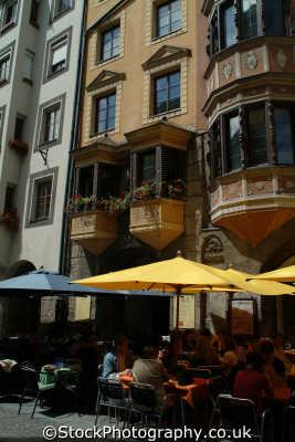 street cafe innsbruck alps alpine austrian osterreich european travel austria österreich europe