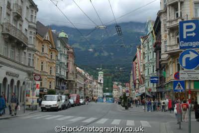 street innsbruck alps alpine austrian osterreich european travel austria österreich europe