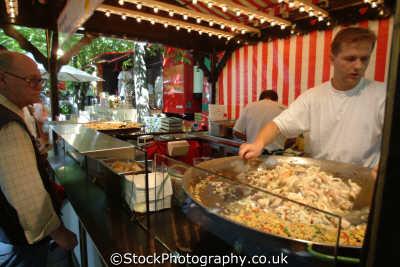cooking giant wok fleamarket stuttgart baden wurttemberg german deutschland european travel cuisine baden-wurtberg baden wurtberg badenwurtberg germany europe germanic