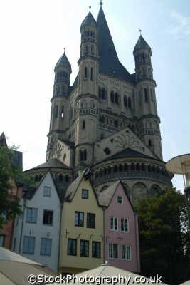 houses church fishmarkt cologne north rhine westphalia german deutschland european travel köln rhineland valley germany europe germanic