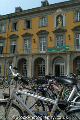 bikes outside bonn university north rhine westphalia german deutschland european travel education rhineland valley germany europe germanic