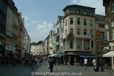 shopping street bonn north rhine westphalia german deutschland european travel rhineland valley germany europe germanic