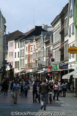 shopping bonn north rhine westphalia german deutschland european travel pedestrian rhineland valley germany europe germanic