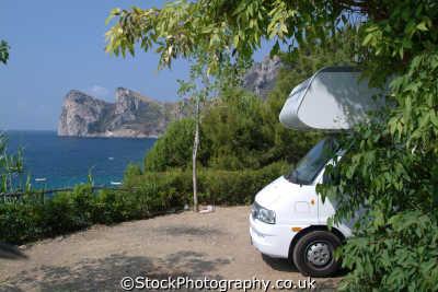 motorhome campsite amalfi coast southern italy italian european travel camping camp site italien italia italie europe
