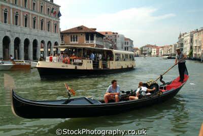 gondola vaporetta grand canal venice north east italy italian european travel venitian venezia italien italia italie europe
