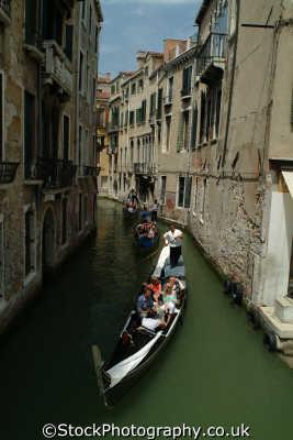 gondolas canal venice north east italy italian european travel venitian venezia italien italia italie europe
