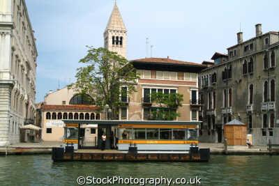 vaporetto stop grand canal venice north east italy italian european travel venitian venezia italien italia italie europe