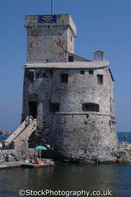 rapallo harbour 16th century castle liguria italian european travel riviera italy italien italia italie europe