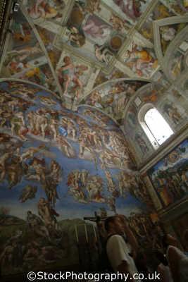 sistine chapel michelangelo judgement vatican rome lazio italian european travel art famous painting roma roman italy italien italia italie europe