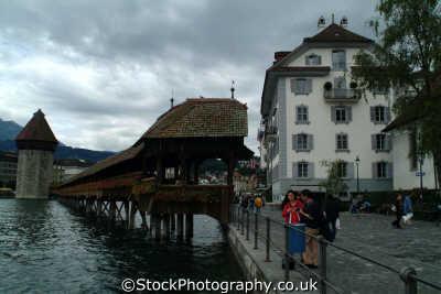 kapell brucke bridge lucerne swiss suisse european travel luzern switzerland schweiz europe