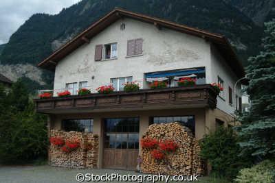 quaint house logs liechtenstein swiss suisse european travel leichtenstein switzerland schweiz europe
