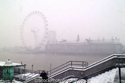 london eye blizzard famous sights capital england english uk westminster cockney angleterre inghilterra inglaterra united kingdom british
