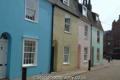painted cottages weymouth south west england southwest country english uk dorset angleterre inghilterra inglaterra united kingdom british