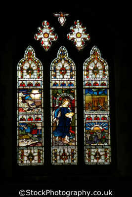 stained glass window corfe village church south west england southwest country english uk dorset angleterre inghilterra inglaterra united kingdom british
