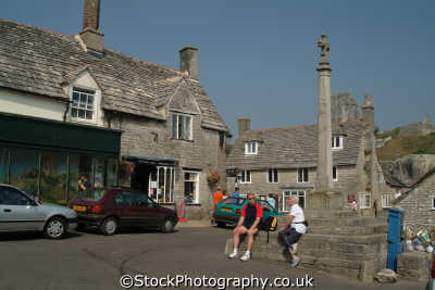 village cross corfe south west england southwest country english uk picturesque dorset angleterre inghilterra inglaterra united kingdom british