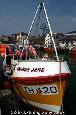 amanda jane fishing boat weymouth boats marine misc. dorset england english angleterre inghilterra inglaterra united kingdom british