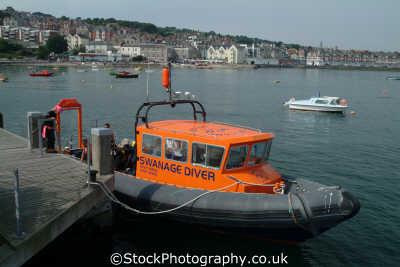 swanage diver converted medina class rib lifeboat power boats motor yachts powerboats marine misc. purbeck dorset england english angleterre inghilterra inglaterra united kingdom british