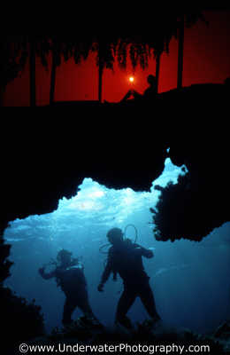 shot sunset divers surface seascapes scenery scenic underwater marine diving twilight dusk nightfall benny sutton cyprus europe european cypriot