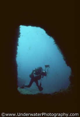 underwater photographer cave mouth photographers divers diving people scuba marine benny sutton cyprus europe european cypriot