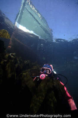 diver boat surface seascapes scenery scenic underwater marine diving benny sutton scottish borders scotland scotch scots escocia schottland united kingdom british