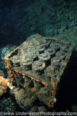 live ammunition box wrecks seascapes scenery scenic underwater marine diving explosive bang truk lagoon shipwrecks pacific oceanic sea oceans micronesia micronesian