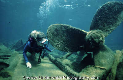 diver propellor wrecks seascapes scenery scenic underwater marine diving cyprus europe european cypriot