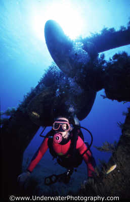diver wreck propellor wrecks seascapes scenery scenic underwater marine diving cyprus europe european cypriot