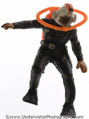 hard hat diver toy land seascapes scenery scenic underwater marine diving united kingdom british