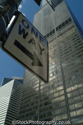 sears tower way sign chicago illinois american yankee travel usa united states america