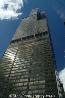 sears tower worlds tallest building chicago illinois american yankee travel post modern usa united states america