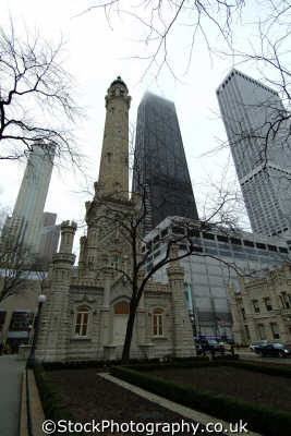 water works skyscrapers chicago illinois american yankee travel usa united states america