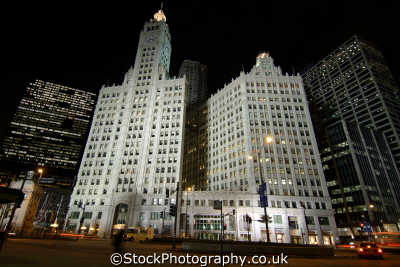 wrigley building chicago illinois american yankee travel chewing gum usa united states america
