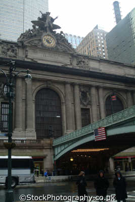 grand central station fascia new york american yankee travel railroad railway big apple usa united states america