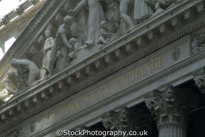 new york stock exchange frontage american yankee travel money markets finance financial big apple usa united states america
