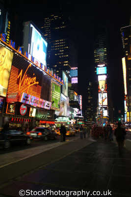 times square virgin megastore new york american yankee travel lights commercialism big apple usa united states america