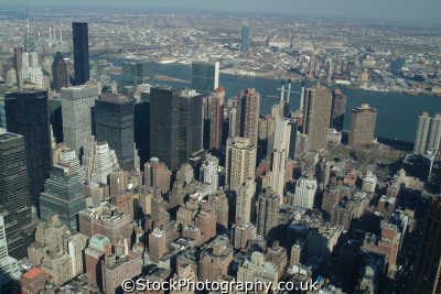 view midtown east new york american yankee travel aerial skyscrapers city big apple usa united states america