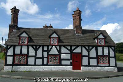 half timbered cottage beeston buildings historical uk history british architecture architectural cheshire england english angleterre inghilterra inglaterra united kingdom