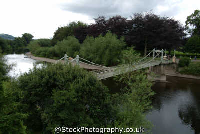 victoria footbridge hereford uk bridges rivers waterways countryside rural environmental herefordshire england english angleterre inghilterra inglaterra united kingdom british