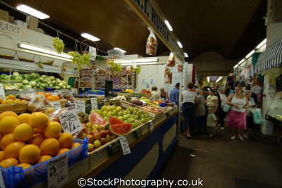 veg stall indoor market hereford uk markets traders commercial buildings retailers british architecture architectural herefordshire england english angleterre inghilterra inglaterra united kingdom