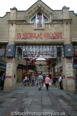 st nicholas arcade lancaster uk shopping centres retailers trade centers commercial buildings british architecture architectural lancashire lancs england english angleterre inghilterra inglaterra united kingdom