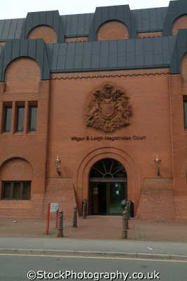 wigan leigh magistrates court uk law courts legal prosecution british architecture architectural buildings lancashire lancs england english angleterre inghilterra inglaterra united kingdom