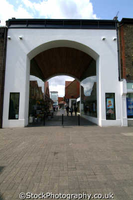 st albans arch christopher place south east towns southeast england english uk hertfordshire herts angleterre inghilterra inglaterra united kingdom british