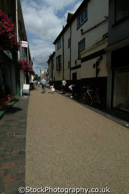st albans lanes shopping area south east towns southeast england english uk hertfordshire herts angleterre inghilterra inglaterra united kingdom british