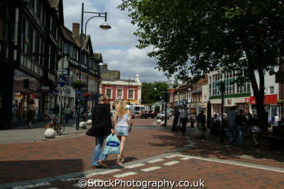 watford high street south east towns southeast england english uk hertfordshire herts angleterre inghilterra inglaterra united kingdom british