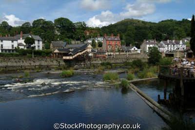 river dee llangollen uk rivers waterways countryside rural environmental denbighshire wales welsh país gales united kingdom british