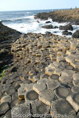 giant causeway 16 uk coastline coastal environmental basalt columns hexagonal giants county antrim aontroim northern ireland ulster irish irland irlanda united kingdom british