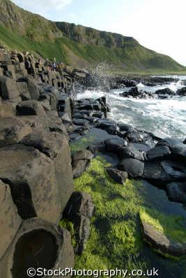 giant causeway 18 uk coastline coastal environmental basalt columns hexagonal giants county antrim aontroim northern ireland ulster irish irland irlanda united kingdom british