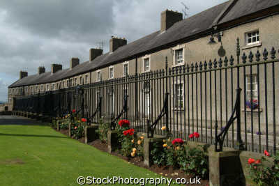 vicar hill armagh uk terraced houses british housing homes dwellings abode architecture architectural buildings county armargh ard mhacha northern ireland ulster irish irland irlanda united kingdom