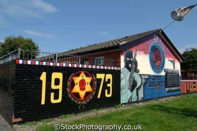 uff paramilitary mural east belfast irish political murals arts misc. loyalist protestant ulster beal feirste northern ireland irland irlanda united kingdom british