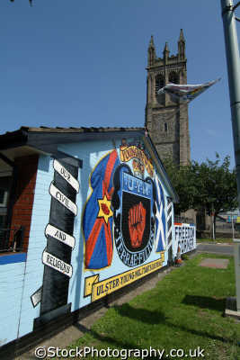 protestant mural church irish political murals arts misc. loyalist ulster belfast beal feirste northern ireland irland irlanda united kingdom british